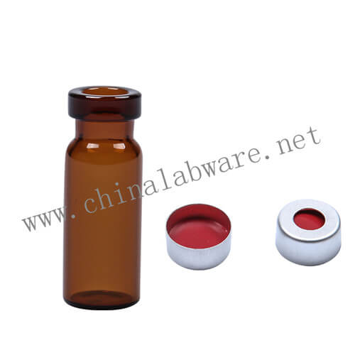 2ml amber crimp glass vials